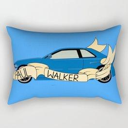 Blue Skyline Rectangular Pillow