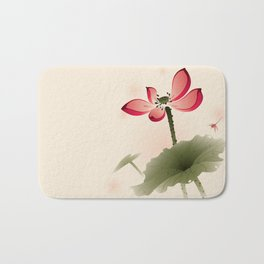 Oriental Lotus 001 Bath Mat