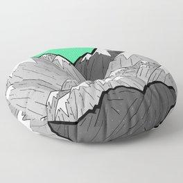 Green Sky Mounts Floor Pillow