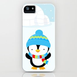Cute penguin boy #1 iPhone Case