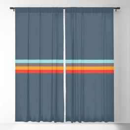 Sedna - Classic Retro Summer Stripes Blackout Curtain