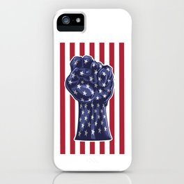 American Fist Flag Stars and Stripes iPhone Case