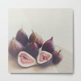 Fig print. A Little Figgy Metal Print