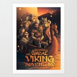 The Great Viking Adventure Art Print