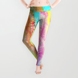 Abstract 9 Rainbow Leggings