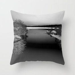 Then There is Cold... in Black and White Throw Pillow