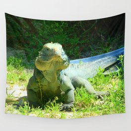 Iguana and Chill Wall Tapestry