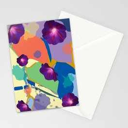 Morning Glory Collage Stationery Cards