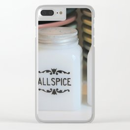 Vintage Spice Jars Clear iPhone Case