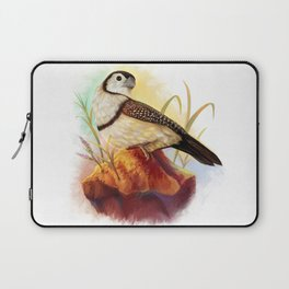 Owl finches realistic painting Laptop Sleeve