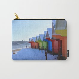 Beach Huts in the Snow Carry-All Pouch