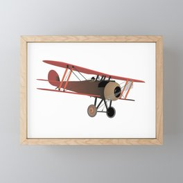Red World War I Biplane Framed Mini Art Print