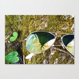 Tree in Sunglasses Canvas Print