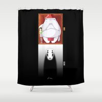 spirited away Shower Curtains featuring Spirited Away by Leamartes
