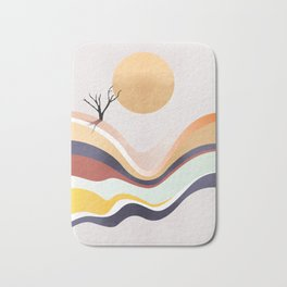 The Flowing Pale Desert Bath Mat