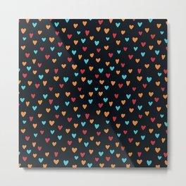 Colorful Hearts Pattern No. 2 Metal Print