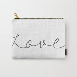 Love Minimalist Style Handwriting Typography Design Romantic Carry-All Pouch