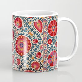 Kermina Suzani Uzbekistan Embroidery Print Coffee Mug