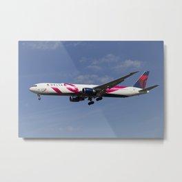 Delta Airlines Boeing 767 Metal Print