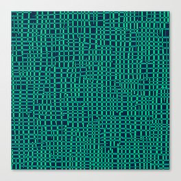 Turquoise Crosshatch Canvas Print