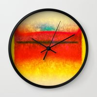 rothko Wall Clocks featuring After Rothko 8 by Gary Grayson