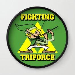 Fighting Triforce Wall Clock