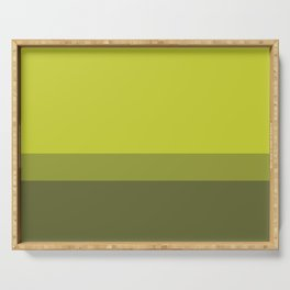 COLOR BLOCKED, CHARTREUSE Serving Tray
