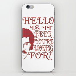 hello  - I love beer iPhone Skin