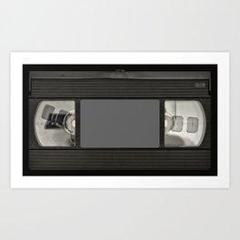 Retro 80's objects - Videotape Art Print