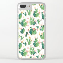 Cactus pattern Clear iPhone Case
