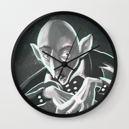 creepy spooky nosferatu Wall Clock
