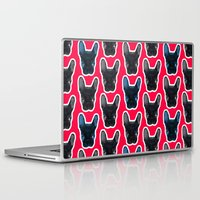 artrave Laptop & iPad Skins featuring BATPIG artRAVE Red by Walko