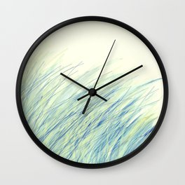 Blue grass for Cindy Wall Clock