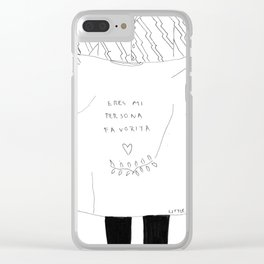 Eres mi persona favorita Clear iPhone Case