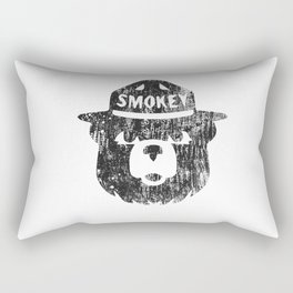 Smokey Bear Distressed Logo Rectangular Pillow