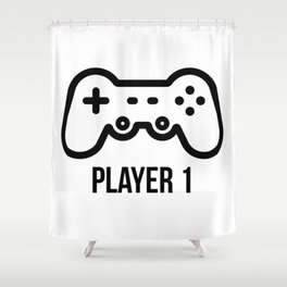 Player 1 Shower Curtain