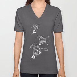 Anteater cyclists Unisex V-Neck