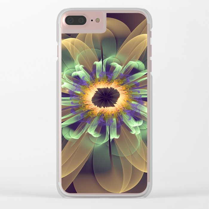 Cosmic Daisy Clear iPhone Case