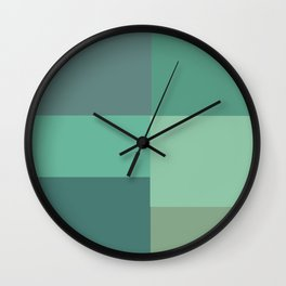 Green Squares Wall Clock