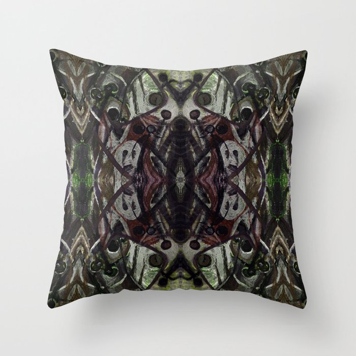 Ghost Upholstery Throw Pillow