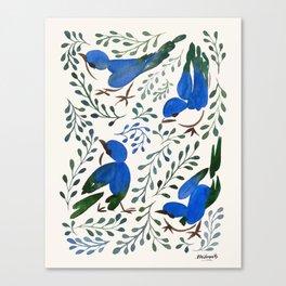 Birds in Summer Canvas Print