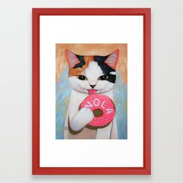NOLA DONUT Framed Art Print