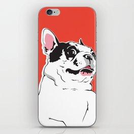 Boston Terrier Side-Eye iPhone Skin