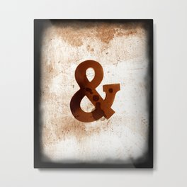 Ampersand in Sepia by Ann Powell Metal Print