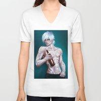 dragon age V-neck T-shirts featuring Fenris (Dragon Age) by ynorka