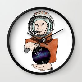 Yuri Gagarin. Space day. Wall Clock