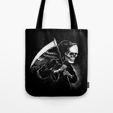 DEATH WILL HAVE HIS DAY Tote Bag
