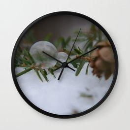 Double Winter Fun Wall Clock