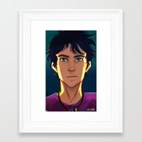 percy jackson Framed Art Prints featuring Percy Jackson by VVIVAA
