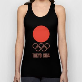 Vintage 1964 Tokyo Olympics Decal Cycling t-shirts Unisex Tank Top